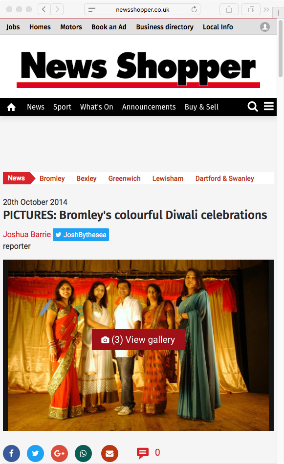 Bromley's colourful Diwali celebrations