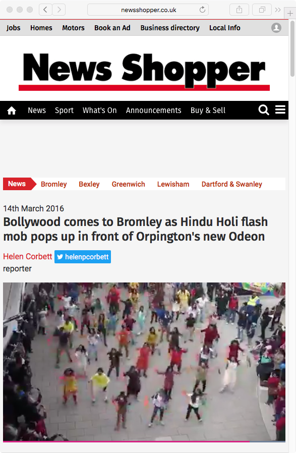 Hindu Holi flash mob